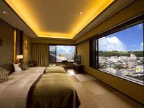 [和モダン倶楽部ルーム] 客室一例 :町側で高階層のお部屋