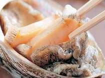 活あわびの踊り焼&ダブル蟹しゃぶ~お夕食はお部屋で