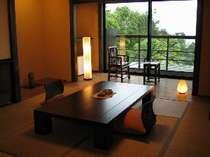 お部屋からは伊豆大島が一望できます