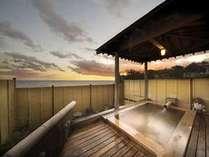 伊豆の海と夕景の露天風呂