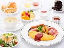 【朝食(洋食)イメージ】ビュッフェ自粛要請により、当面の間、和洋セットメニューでのご提供となります。