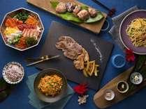 夕食:オキナワンデライト(沖縄の素材を愉しむチョイスディナー)