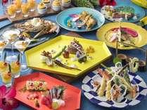 夕食:オキナワンデライト(沖縄の料理をお楽しみ頂けるチョイス&ブッフェディナー)