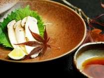 松茸コースの料理です。松茸のおさしみ♪,岐阜県,岩寿荘
