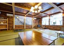 食堂では、水・お茶は無料にてご利用頂けます。ビール・日本酒などは有料になります。