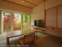 【離れをりから|折橋の間】1階には浴室と庭園の見える和室がございます