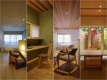 離れ「をりから」の客室は全4棟。お部屋の指定がありましたらお気軽のどうぞ♪