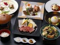 季節の懐石料理ハーフコース(一例)
