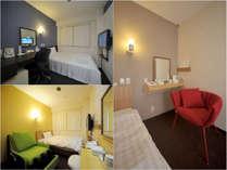 いろいろなお部屋がございます。こちらは人気のビジネスタイプ&リラックスタイプのお部屋です(*^_^*)