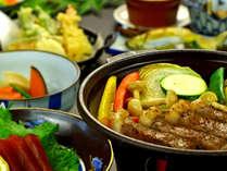 旬の地元食材を中心とした贅沢グレードアップ料理一例です。