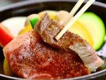 上州和牛を贅沢にステーキでお召し上がりください。