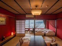 輪島港を眺めるハーバー・ビュー和洋室「うるし―URUSHI」