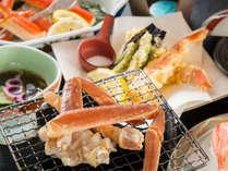 八汐の蟹会席の一例