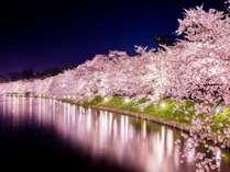 【弘前 夜さくら】界津軽のある大鰐温泉は弘前まで最短10分の好アクセス