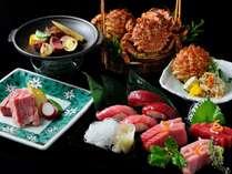 【春の特別会席】甘くて濃厚な「とげくり蟹」や青森を代表する食材「大間まぐろ」、和牛とともに