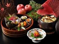 【基本会席】津軽の食文化を意識して丁寧につくられた料理からは季節の移り変わりを鮮やかに感じ取れます