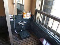 露天風呂付きましらののシャワースペース