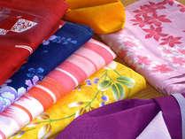 露天風呂付客室フロアにお泊りの女性の方には色浴衣の無料貸し出し特典付き