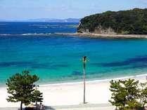 白良浜は5月3日が海開き。※5階の客室より撮影