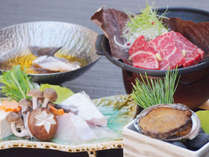 【脂ののった紀州本クエ×熊野牛】あわびもついてお料理なっ得いただける豪華会席で和歌山の旅満喫♪