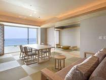 露天風呂付客室『浜水晶・特別室』で過ごす贅沢な休日×夕・朝食お部屋食
