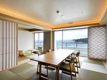露天風呂付客室「浜水晶」特別室「緑(りょく)の晶」(お部屋のタイプはお任せとなります)