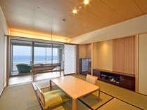 2017年3月 露天風呂付客室「浜水晶」フロアが三楽荘8階に登場 和室タイプ一例