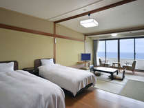 2016年12月リニューアルの和洋室(一例)畳スペースが手前のお部屋もありますがお任せとなります。