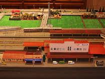 「Nゲージ・ジオラマ ホテルアソシアとJR高山本線のある風景」※ロビー内に展示してあります。