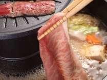 【飛騨高山でゴールデンウィークを満喫!ファミリー飛騨牛焼きしゃぶプラン!】※夕食イメージ