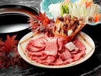 【2018年秋グルメ】黒毛和牛と松茸のすき焼き ※イメージ画像