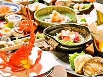 【季節の懐石】伊豆近海の新鮮な海の素材や旬の幸を活かした料理(一例)