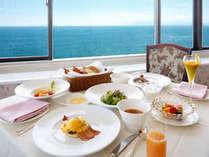 プラチナ朝食♪琵琶湖を眺めながら朝食を。1日30食限定★卵料理はフルオーダー&フレンチトーストも楽しみ★