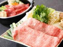 近江牛すきやき膳 *お皿に盛り付けている、お肉がお一人様分量です。