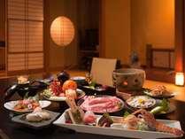静岡の厳選素材を使った磯会席料理(料理例)