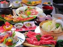 【旬魚の3種盛×豊後牛すき焼き】