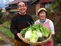 5室の民宿だからできる自家製野菜と自家製米のおもてなし