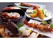 海老好きにはたまらない!伊勢海老のお造り&具足煮&うにソース焼、更に車海老塩焼、エビフライも!