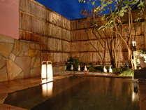 全てのプランで、天然温泉の露天風呂を貸切で利用可!(無料)泉質も良好♪美肌効果アリ!
