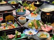 流辿自慢の会席膳一例。親方が腕を振るうお料理を満喫して下さい!(一例)