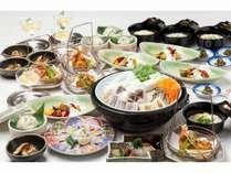 【期間限定◆食べ放題満腹プラン】ふぐ刺し一皿とふぐ料理食べ放題/和食≪夕朝食付≫