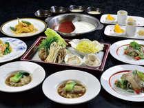 パークビュー客室【女性におすすめ】中国料理『ふかひれとコラーゲン鍋コース』≪夕朝食付≫