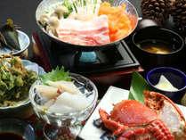 【夕食】アサヒガニが楽しめるグレードアップのお料理一例
