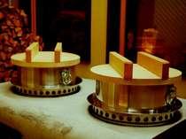 悠佳亭 囲炉裏庵のかまど炊き。全国米食味コンクールで金賞を受賞した下呂特産米を炊く。