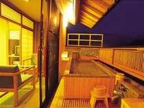 露天風呂付き客室 忍冬の間 露天風呂