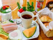 【朝食一例】コーヒー、紅茶、ミルク、カフェオレから選べます