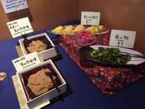 和食コーナー(香の物&金山時味噌)