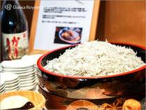 和歌山の海の幸、釜揚げシラス。醤油発祥の地、和歌山の醤油でご堪能頂けます。