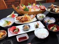 ■ 夕食(一例) 伊豆の食材を使った創作和食