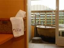 露天風呂付客室のお風呂の一例